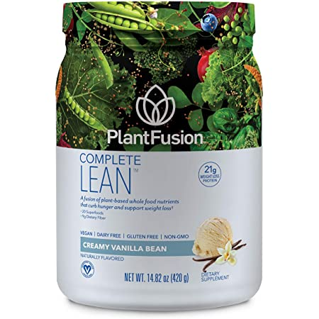PlantFusion Complete Lean Plant Based | Weight Loss Protein Powder | Supports Blood Sugar & Controls Appetite | Superfoods with Digestive Enzymes | Gluten Free, Vegan, Non-GMO, Vanilla, 14.82 oz