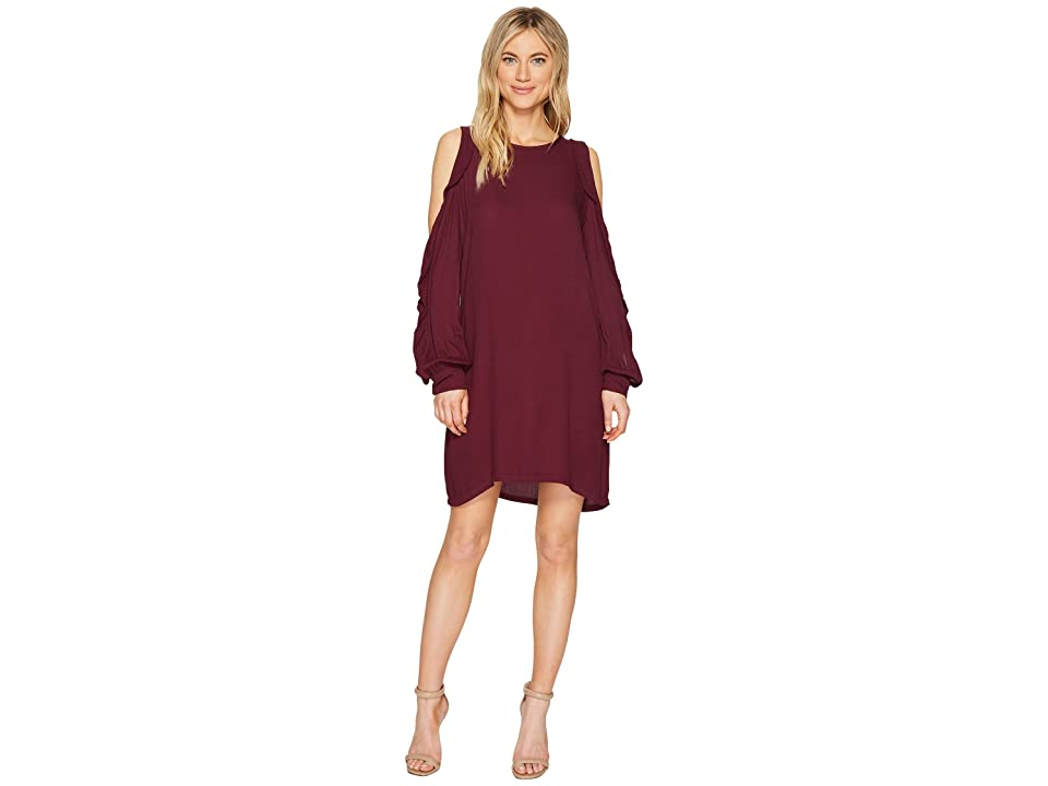 Young Fabulous & Broke Kaitlin Dress (Solid Plum) Women