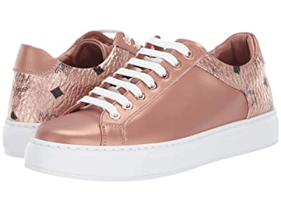 MCM Logo Group Sneakers (Champagne Gold) Women