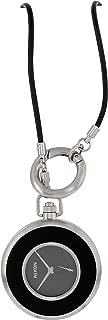 Nixon Highball Silver Tone Black Leather Men's Pocket Watch A156000