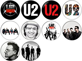U2 Pinback Buttons Badges/Pin 1 Inch (25mm) Set of 10 New