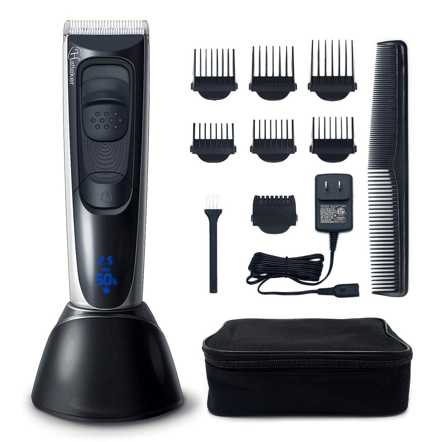 別のティーム収容するバリカン電気男性ヘアトリマー髭トリマーでマルチサイズ微調整ライトledディスプレイ充電式