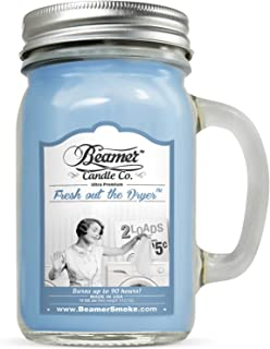 Beamer Candle Co. 12oz Fresh Out The Dryer Scented Ultra Premium Jar Candle. 90 Hr Burn Time. USA Made
