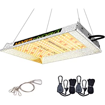 MARS HYDRO TS 600W LED Grow Light 2x2ft Coverage Sunlike Full Spectrum Grow Lamp Plants Growing for Hydroponic Indoor Seeding Veg and Bloom Greenhouse Growing Light Fixtures Four for 4x4 Footprint