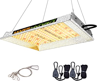 MARS HYDRO TS 600 LED Grow Light Reflector Budget LED for 2x2ft Grow Sunlike Spectrum IR Grow Lights for Indoor Plants Hydroponic Greenhouse Gardening Growing Light Fixtures Veg and Flower