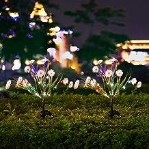 Solar Lights Outdoor - Solar String Lights 2 Pack - New Upgraded Solar Garden Lights, Brighting Chrysanthemum Solar Flower...