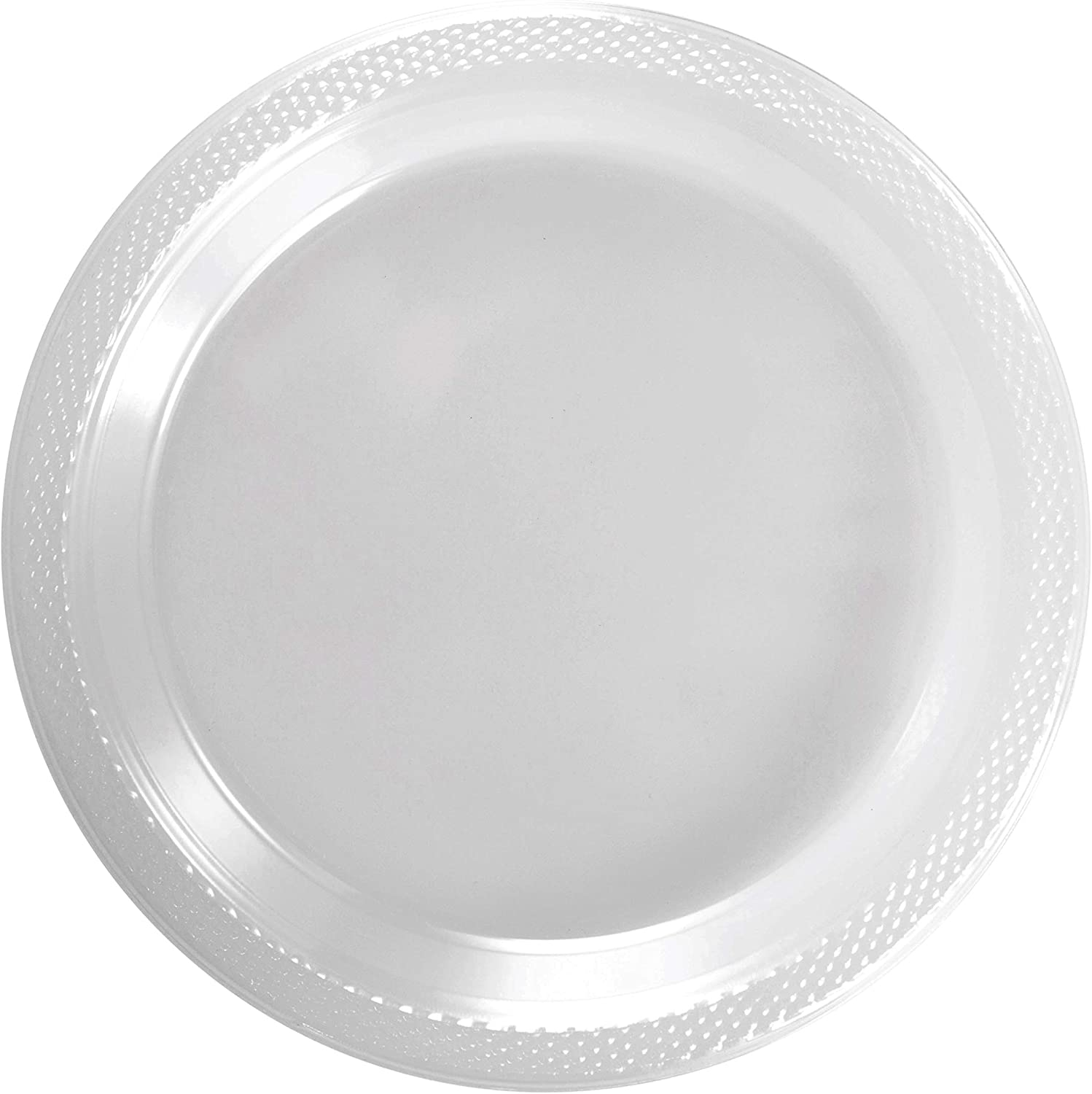 Exquisite 9 Inch. Clear Plastic Plates  Solid color Disposable Plates  50 Count