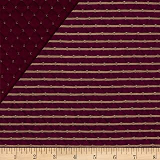 TELIO Star Quilted Knit Bordeaux Fabric by The Yard