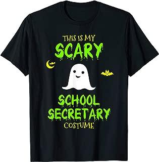 Scary School Secretary Costume Halloween Lazy Easy T-Shirt
