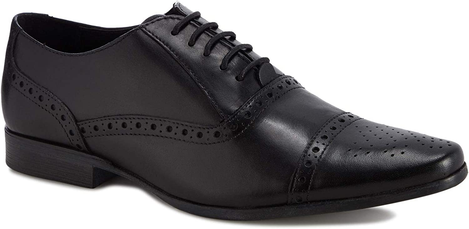Red Herring Men Black Leather 'Ethan' Oxford shoes