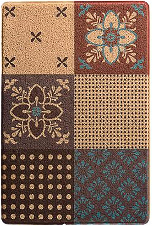 Entrance mat Indoor mats for entryway Entrance Floor mats for Office Waterproof Floor mat for Kitchen Porch-D 60x90cm(24x35inch)