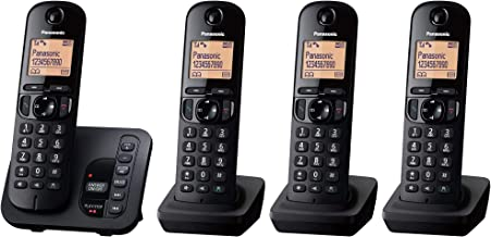 Panasonic KX-TGC224EB DECT Cordless Phone with Answering Machine, 1.6 inch Easy-to-Read Backlit Display, Nuisance Call Blo...