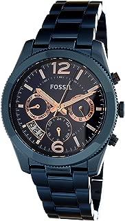 Fossil Women's Perfect Boyfriend ES4093 Blue Stainless-Steel Quartz Fashion Watch