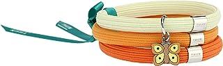 """THUN - Bracciale elastico arancione Impulse""""Farfalle in festa"""" con farfalla (Orange)"""