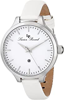 Lucien Piccard Women's LP-12917-02-WHT Lleida Stainless Steel Watch with Satin Band