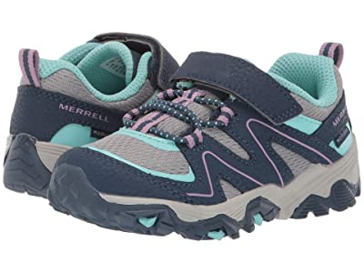 Merrell Kids Trail Quest (Toddler) (Navy/Grey/Turquoise) Girl