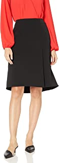 Women's Stretch Crepe Skirt with Layer Detail
