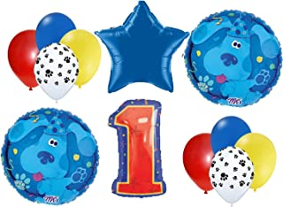 Blues Clues birthday balloons FIRST 1st party decorations supplies mylar latex