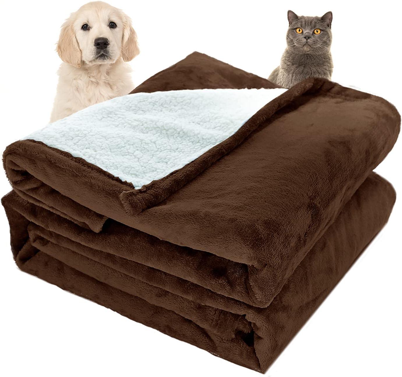 PIOZF Waterproof Dog Blanket trust Reversible Deluxe Warm Fleece Soft Bl Pet