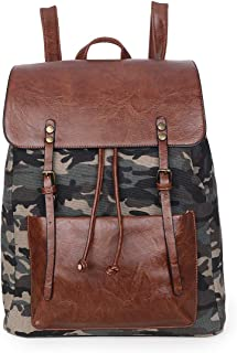 Sunsomen Women's Fashion Canvas Backpack Cute Wallet Casual Backpack Lightweight Daypacks