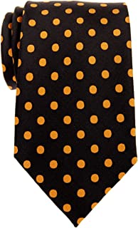 Retreez Classic Polka Dots Woven Microfiber Men's Tie - Various Colors