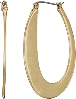Lucky Brand Abstract Hoop Earrings