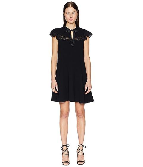 Rebecca Taylor Sleeveless Crepe Lace Dress
