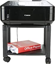 Mind Reader Classify Mobile Printer Cart with Cable Management, BlK, 2 Tiers