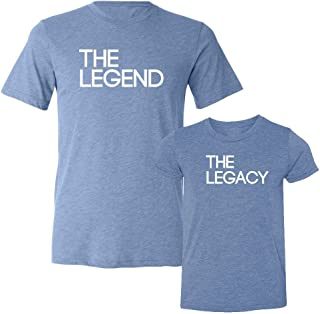 We Match!! - The Legend & The Legacy - Matching Two Triblend T-Shirts Set