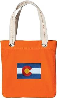 Colorado Tote Bag RICH Dye Washed Orange COTTON CANVAS