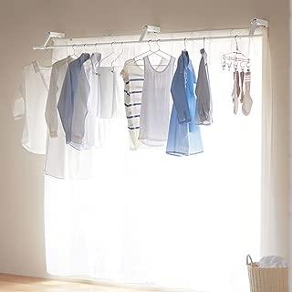 [ベルメゾン] 物干し台・物干しラック 室内 カーテン 物干し 窓上 設置 浮かせて干す
