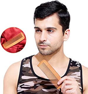 HealthAndYoga(TM) Handcrafted Pure Natural and Eco-Friendly Bamboo Comb - Anti Static Fine Tooth - All Hair Type