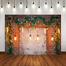 Christmas Backdrop Glitter Brick Wall Lights Winter Indoor Room Decorations Background Xmas Family Travel Party Banner Photo Booth Props 7x5ft