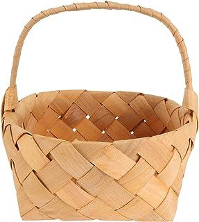 Bestonzon Woven Storage Basket with Handles Easter Basket Wedding Flower Girl Baskets Wicker Laundry Basket Rustic Decorat...
