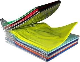 Techsun T-Shirt Organizer Anti-Wrinkle Clean Clothes Storage Organizer Holder Rack T-Shirt Organization System Travel Closet Organizer - Pack of 10 Sheet
