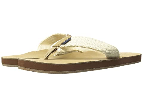 Men's Vineyard Vines Washed Webbing Flip Flop Sandals (Natural)