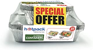 Hotpack Aluminium Container Combo Pack, 10 x 890 ml + 10 x 420 ml