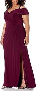 Xscape womens Long Jersey Off the Shoulder Dress Formal Dress