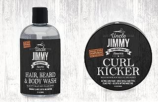 Uncle Jimmy Curl-Kicker 8oz + Hair Beard & Body Wash 12oz