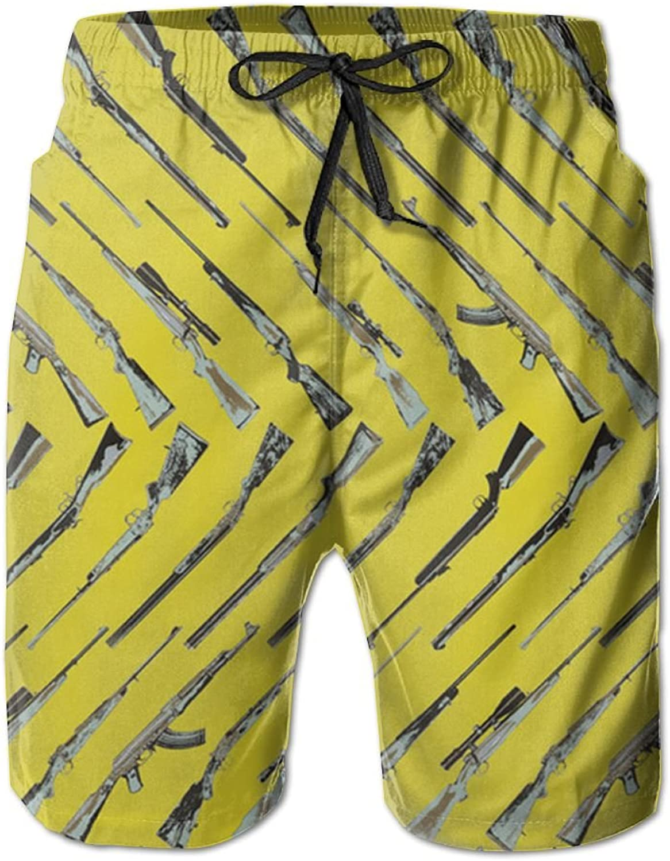 - Game Life Shorts Gun Mens Tree Quick Quick Quick Dry Swim Trunks Beach Shorts with Mesh Lining 24872f