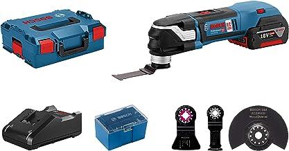 Bosch Professional 18V System Multiherramienta a batería GOP 18V-28 (incl. 1 batería 5,0 Ah, cargador GAL 18V-40, 4 hojas de sierra, en L-BOXX 136) - Amazon Edición