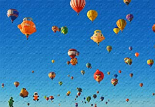 Albuquerque International Balloon Fiesta Special Shapes 1000 Piece Jigsaw Puzzle 29.5 X 19.6' Wooden Puzzle