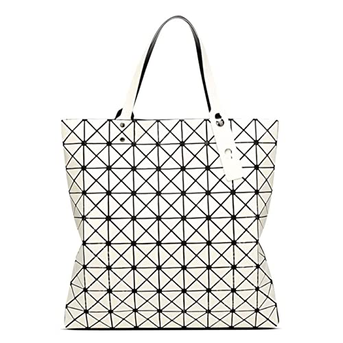 Kayers Sulliva Womens Fashion Geometric Plaid Tote Bag PU Leather Shoulder  Bag Top-handle Handbags e5a67a043042d