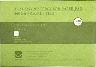 MEEDEN 5X7 Cotton Watercolor Paper Textured Surface Watercolor Pad, Cold Press, 140lb/300gsm, 20 Sheets