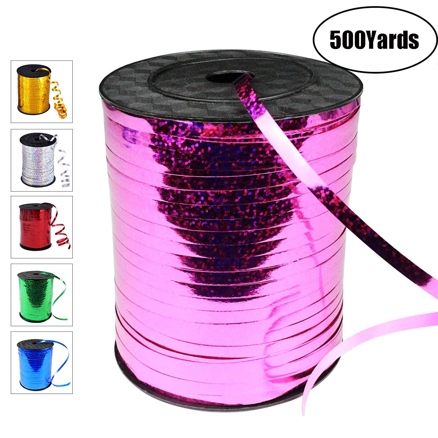 500 Yards Curling Ribbon-Balloon Ribbon-Balloon String for Art&Craft Decor,Gift Wrapping,Ribbons and Bows for Birthday Gifts (Purple)