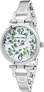 Laura Ashley Women's LA31027SS Silver Thin Metal Band Avery Garden Watch