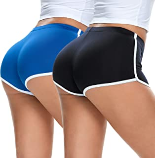 Arsmat 2 Pack Women Workout Shorts, Athletic Shorts for Sports Running Short Pants