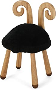 Christopher Knight Home Rose Red's Stoolimals Collection Faux Sheep Stool by Black, Natural