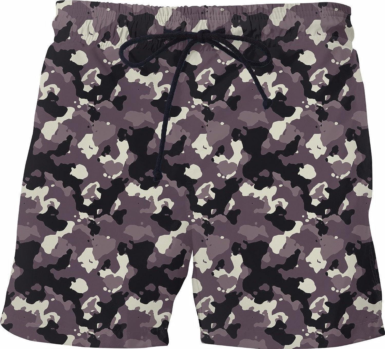 2874fd438d Men's Handmade Regular Fit Fit Fit Camo Quick-Dry, Lightweight Swim Trunks (Swim  Shorts), Style 0075 118a0b