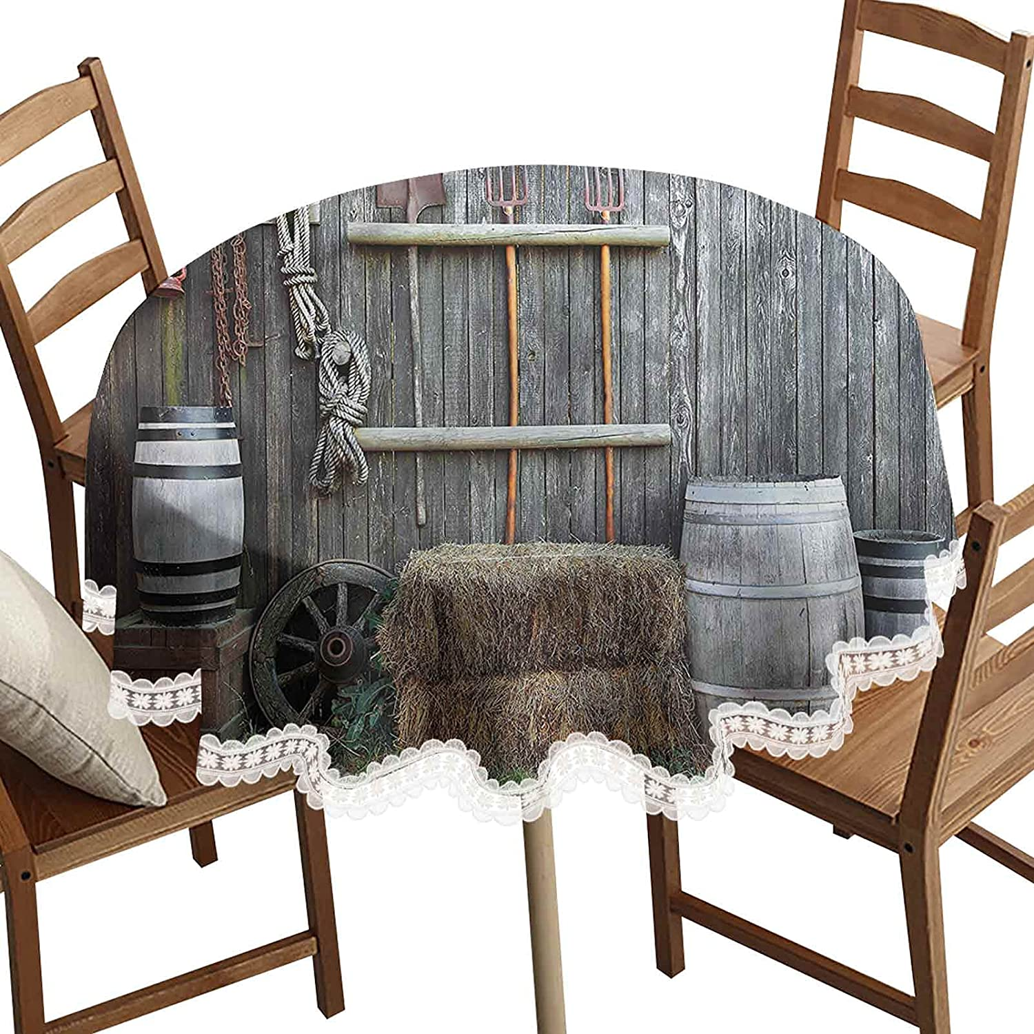 SoSung Agriculture Decorative Round Table Western Boston Mall Cloth B Los Angeles Mall Wooden